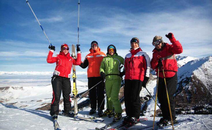 wintersport met groepen