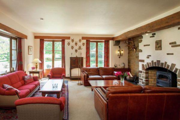 Landhuis Villa Al Bounire - Belgie - Ardennen - 20 personen - woonkamer
