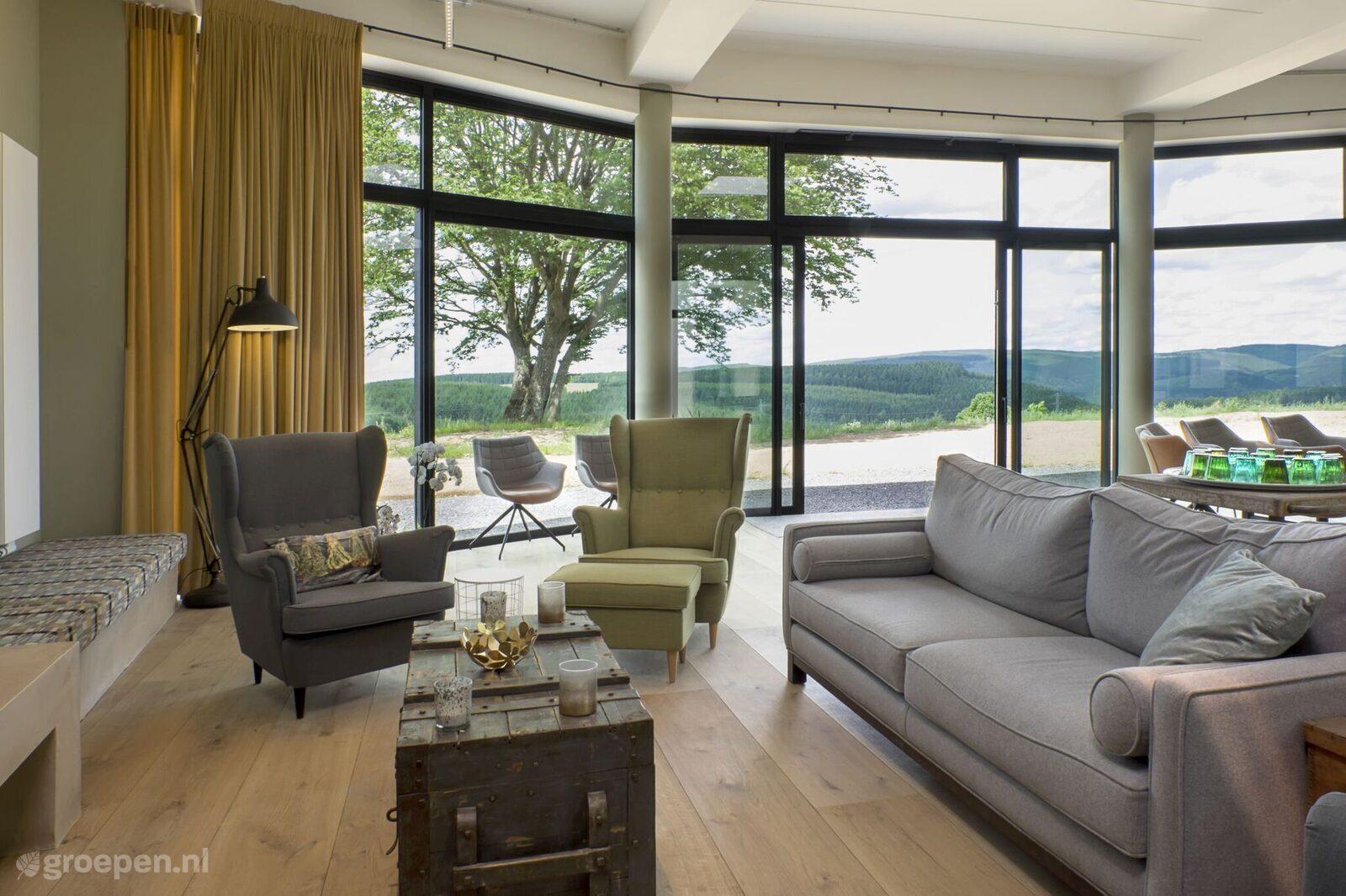 Vakantiehuis Hubermont - België - Luxemburg - 20 personen - woonkamer